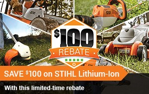SAVE $100 on STIHL Lithium-Ion